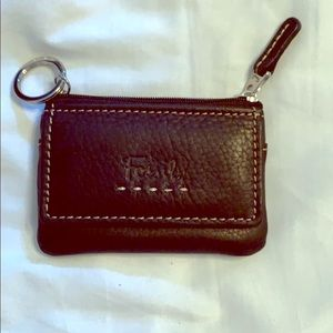 Fossil leather coin purse / wallet